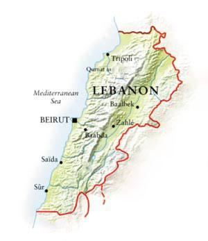 Lebanon Chreim Food Map